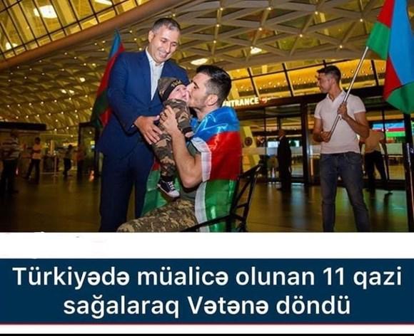 *🇦🇿 Türkiyədə müalicə olunan 11 qazi sağalaraq Vətənə döndü*