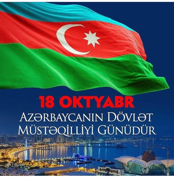 18 oktyabr milli mütəqillik günü bayramımız mübarək