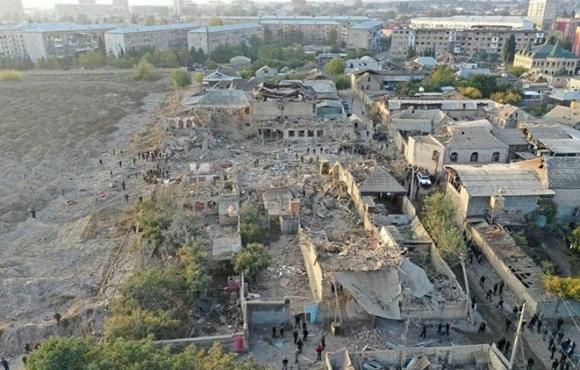 raketlərin dağıtdığı evlər #prayforgandja